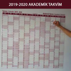 2019 - 2020 akademik takvim kağıt tahta