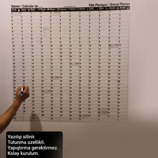 Takvim Üniversal - Yıllık Planlayıcı 120x100 Sihirli Kağıt tahta